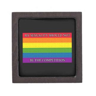 Arco iris - protesta de Sochi - mi sexualidad si… Cajas De Joyas De Calidad