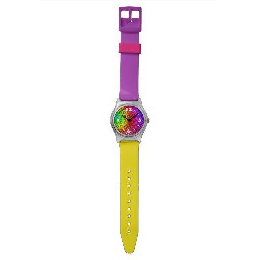 Arco iris psico relojes de pulsera