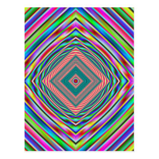 arco iris psychodelic postal