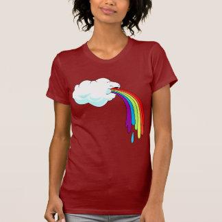 Arco iris Puking de la nube Camisetas