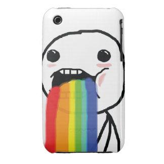 Arco iris Puking iPhone 3 Carcasa