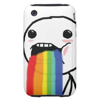 Arco iris Puking Tough iPhone 3 Coberturas