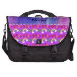 Arco iris púrpura de neón conocido de encargo de bolsa de ordenador