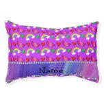Arco iris púrpura de neón conocido de encargo de cama para perro pequeño