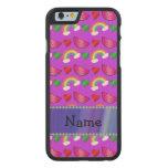Arco iris púrpura de neón conocido de encargo de funda de iPhone 6 carved® de arce