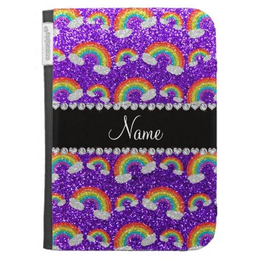 Arco iris púrpuras personalizados del brillo del a
