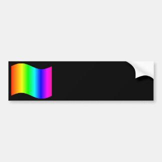 Arco iris que agita pegatina para auto