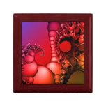 Arco iris que burbujea de fractales cajas de regalo