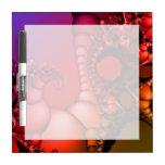 Arco iris que burbujea de fractales pizarras blancas de calidad