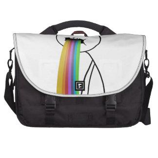 Arco iris que lanza para arriba el meme bolsas para portátil