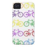 Arco iris que monta en bicicleta al diseñador con  iPhone 4 Case-Mate cárcasas