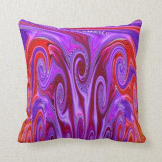 Arco iris que remolina cojín