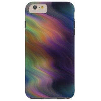 Arco iris que remolina oscuro del extracto de los funda de iPhone 6 plus tough