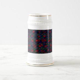 Arco iris quemado taza de café