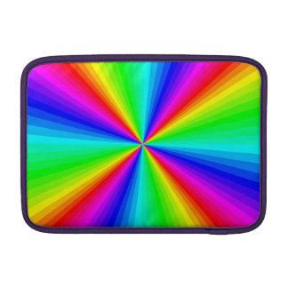 Arco iris radiante funda para macbook air