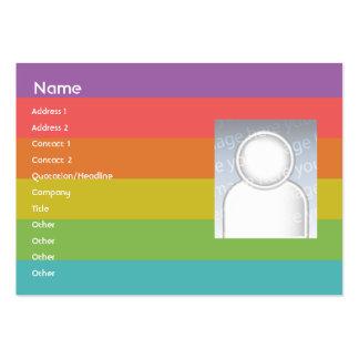 Arco iris - rechoncho tarjetas de visita grandes