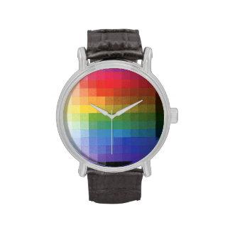 Arco iris relojes