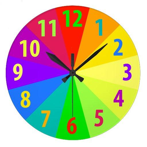 Arco iris relojes de pared