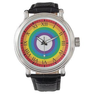 Arco iris relojes de pulsera