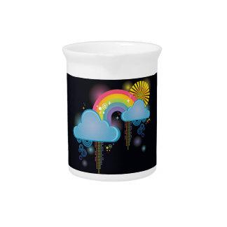 Arco iris retro de neón jarrones