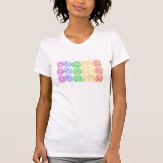 Arco iris retro de OBAMA - camiseta