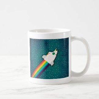 Arco iris Rocket del unicornio Taza De Café