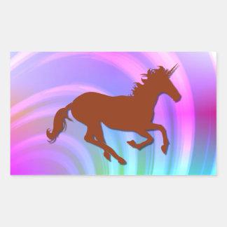 Arco iris rojo del pastel de Change_Abstract del Pegatina Rectangular