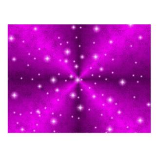 arco iris rosado en la óptica de cuero de postal