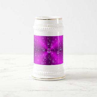 arco iris rosado en la óptica de la piel del elefa taza de café
