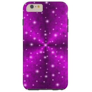 Arco iris rosado en la óptica de la piel del funda de iPhone 6 plus tough