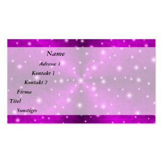 Arco iris rosado en la óptica de la piel del tarjetas de visita