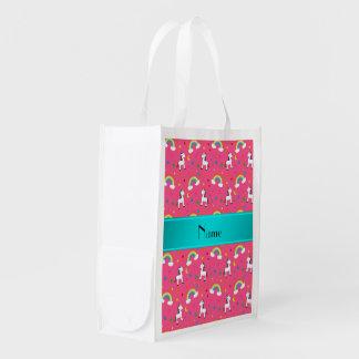Arco iris rosados conocidos personalizados de los bolsas para la compra