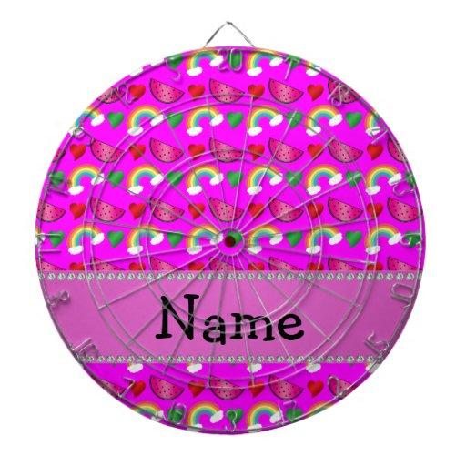 Arco iris rosados de neón conocidos de encargo de