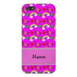 Arco iris rosados de neón conocidos de encargo de  iPhone 5 protectores