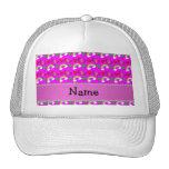 Arco iris rosados de neón conocidos de encargo de  gorra
