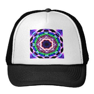 Arco iris roto caleidoscopio de la prisma gorras