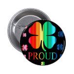 Arco iris RoyGeeBiv - LGBT del trébol de cuatro ho Pin