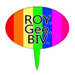 Arco iris RoyGeeBiv - LGBT Figuras De Tarta