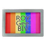 Arco iris RoyGeeBiv - LGBT Hebillas De Cinturon