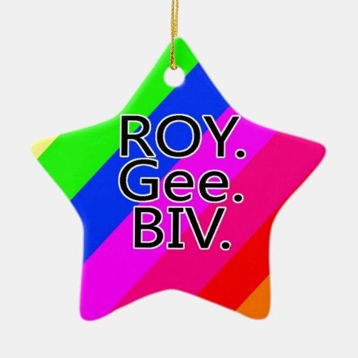 Arco iris RoyGeeBiv - verde amarillo rojo Bl de Ornato