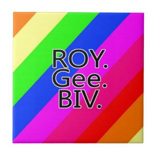 Arco iris RoyGeeBiv - verde amarillo rojo Bl de LG Azulejo Ceramica