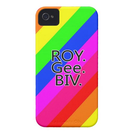 Arco iris RoyGeeBiv - verde amarillo rojo Bl de LG iPhone 4 Case-Mate Protectores