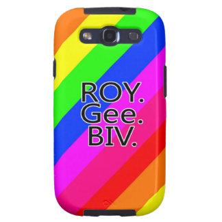 Arco iris RoyGeeBiv - verde amarillo rojo Bl de LG Galaxy SIII Coberturas