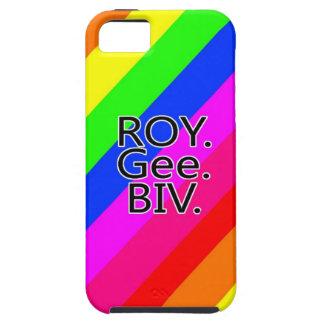Arco iris RoyGeeBiv - verde amarillo rojo Bl de LG iPhone 5 Funda