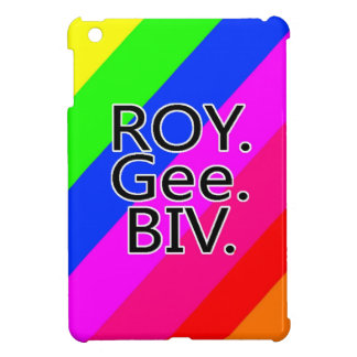 Arco iris RoyGeeBiv - verde amarillo rojo Bl de LG iPad Mini Protectores
