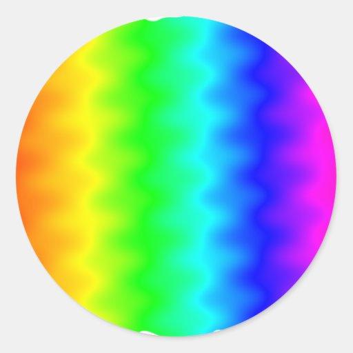 Arco iris ruidoso pegatina redonda