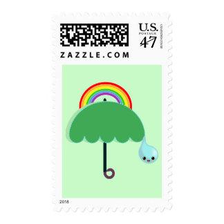 arco iris sello postal