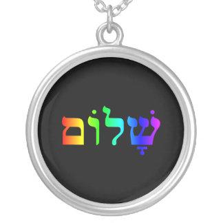 Arco iris Shalom Colgante Redondo