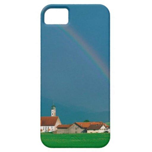 Arco iris sobre Baviera Alemania iPhone 5 Case-Mate Fundas