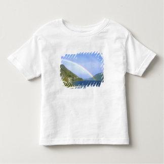 Arco iris sobre el lago Hawea, isla del sur, nueva Camiseta